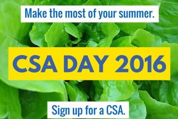 National CSA Day - 2016